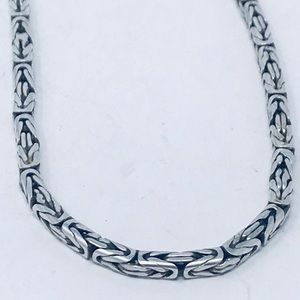 Jewelry - Byzantine Sterling Silver 925 chain ,3mm, 18 Inch